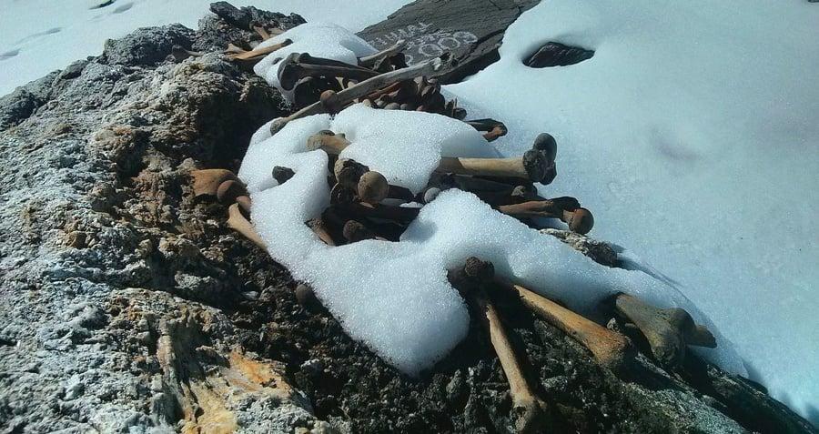 Roopkund Lake Snow Bones