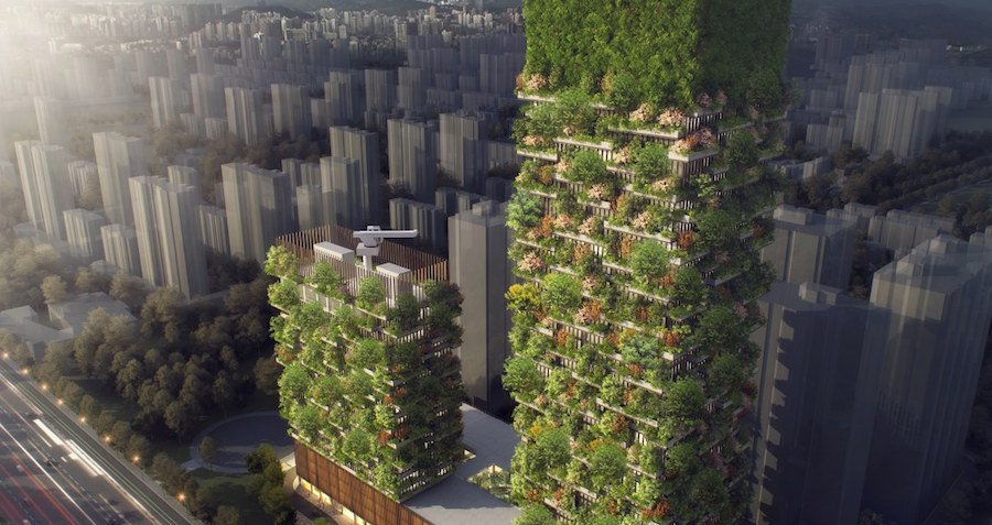 China Is Growing A Vertical Forest To Gobble Up CO2