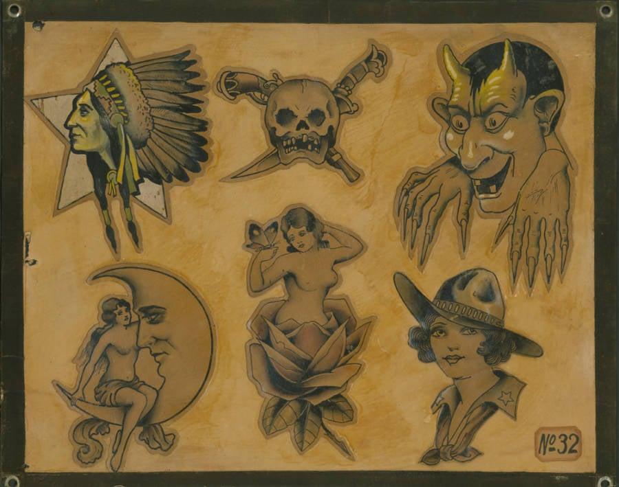 Vintage Tattoo Drawings