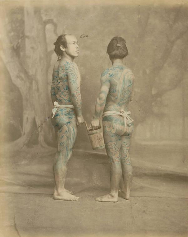 Vintage Tattoos Japanese Men