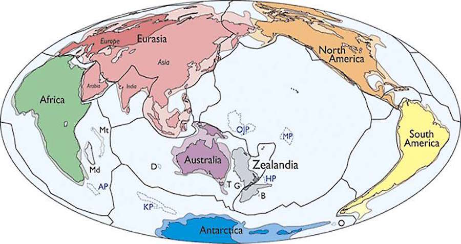 Australia And America Map.Scientists Find New Continent Near Australia