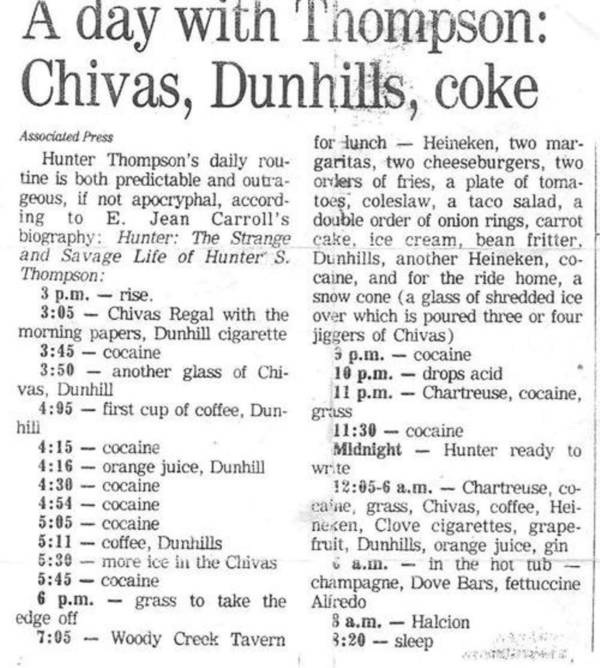 A Day With Hunter Thompson