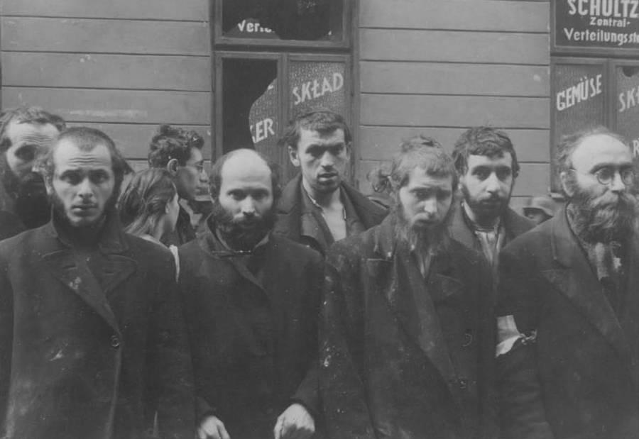 Bearded Men Lined Up