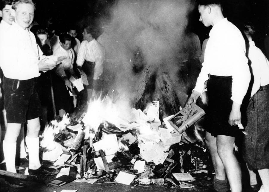Boys Burning Books