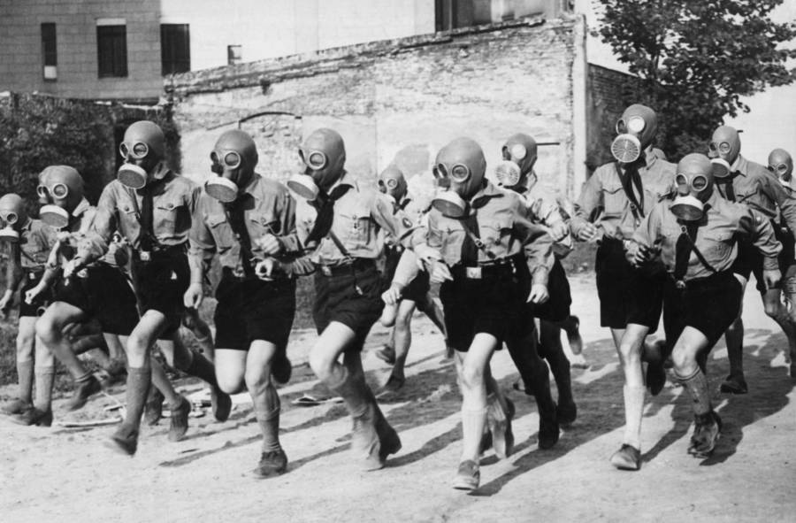 Boys In Gas Masks