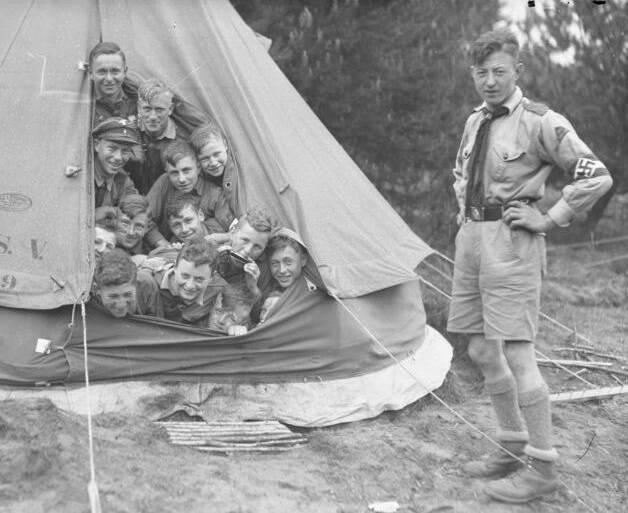 Boys In Tent In Nazi Germany