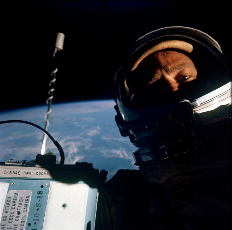 Buzz Aldrin Self Photograph During Gemini 12