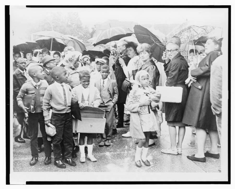 Children Pass Antidesegregation Protest