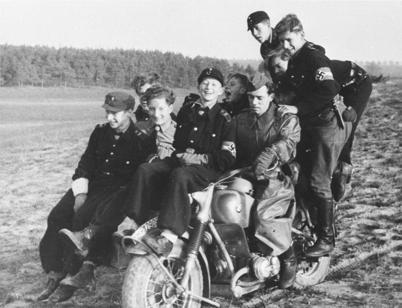 Crowded Motorcycle