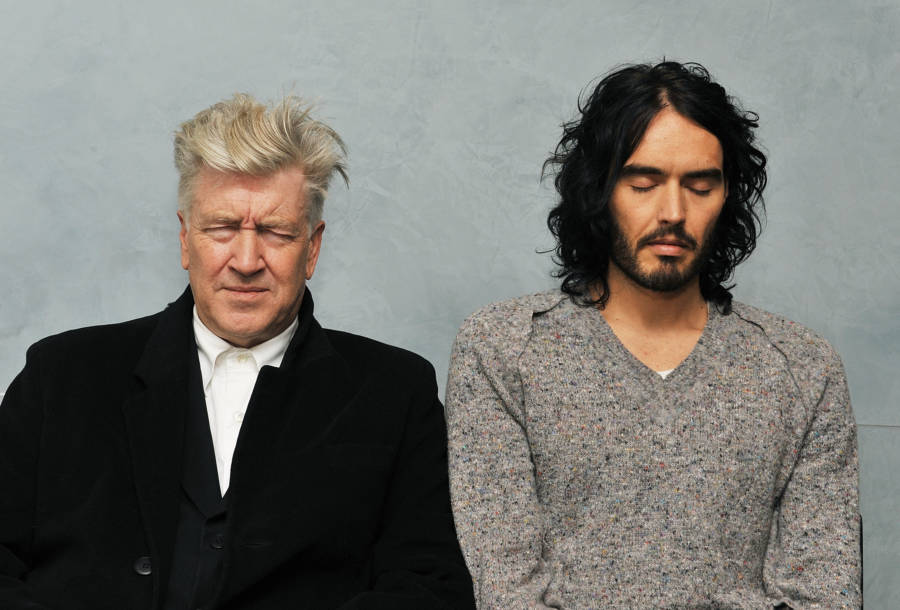 David Lynch And Russell Brand Meditating