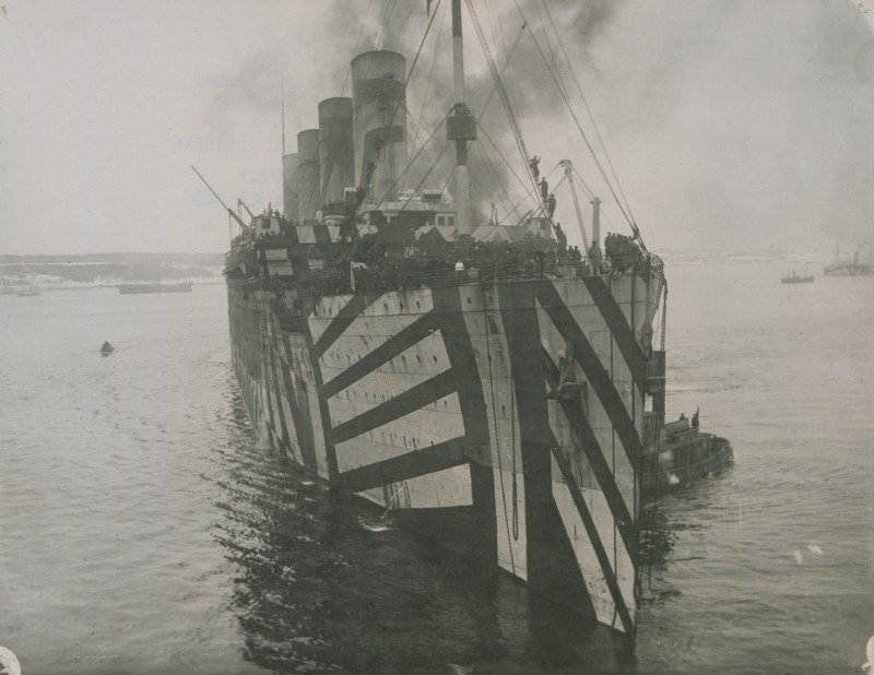 Dazzle Camouflage Large Ship