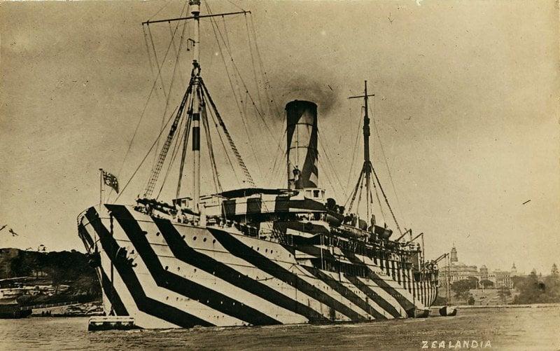 Dazzle Camouflage Passenger Ship