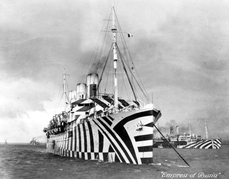 Dazzle Camouflage Ship