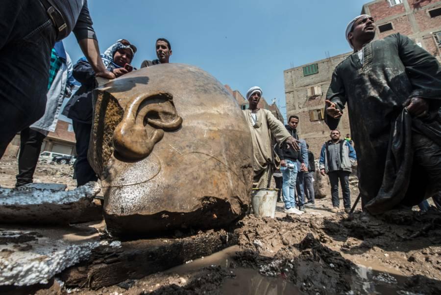 Egypt Statue Ear