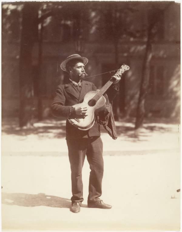 Eugène Atget Guitar Player