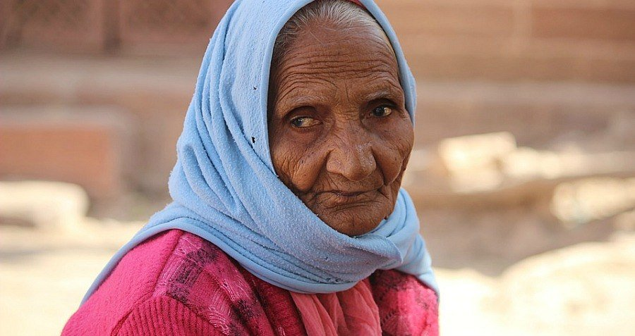 Grandma Old Woman Scarf Epigenetics
