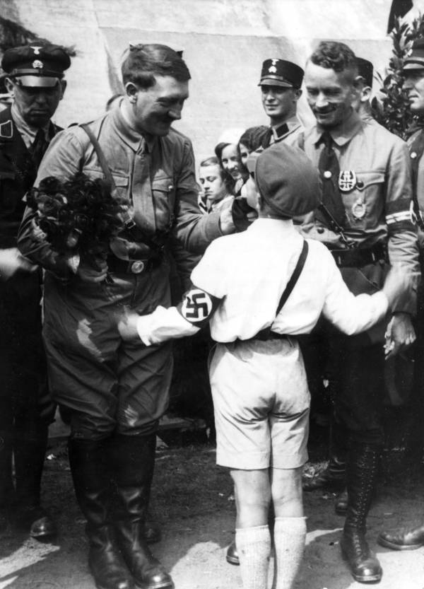 Hitler Boy In White
