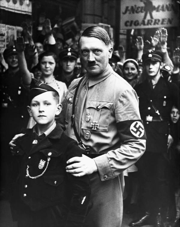 Hitler Posing With Boy