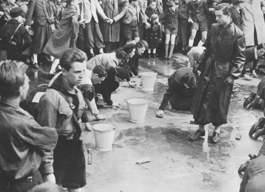 Hitler Youth Street Cleaning
