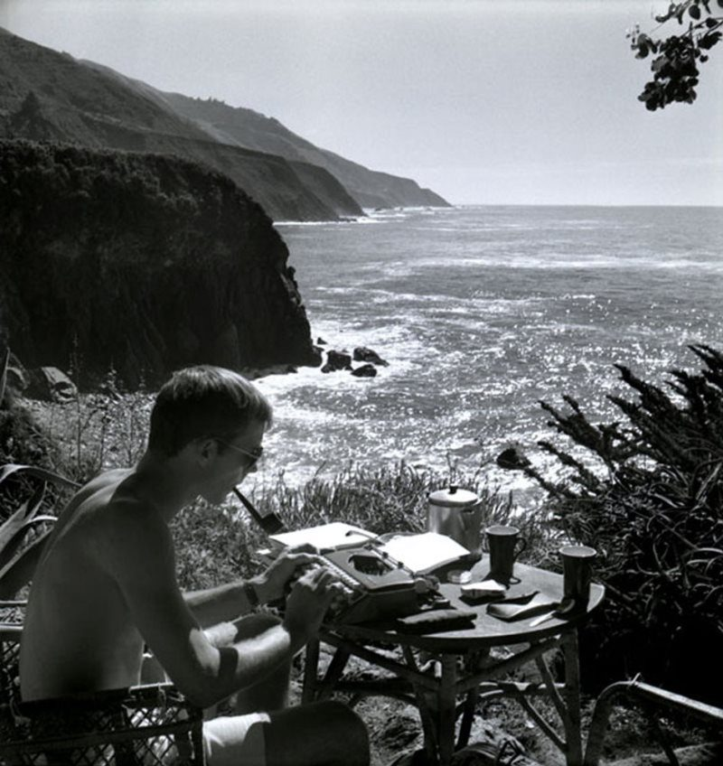 Hunter S Thompson Writing By The Water
