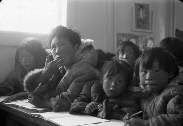 Inuit In Classroom