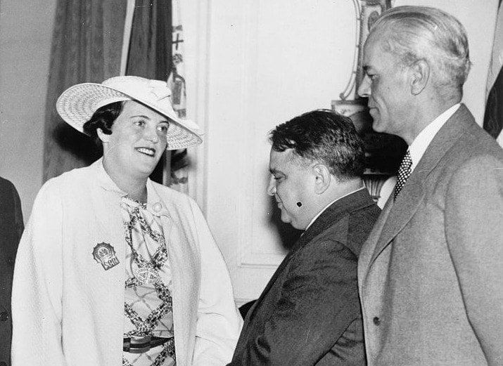 Fiorello Laguardia Meeting Mary Shanley