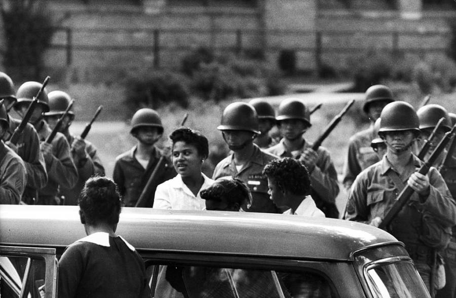Little Rock Nine Soldiers
