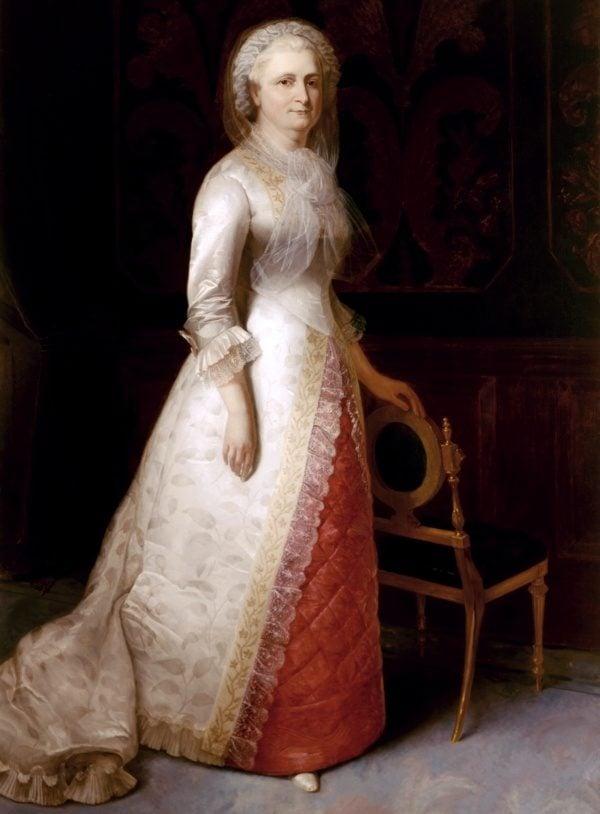Martha Washington Posing