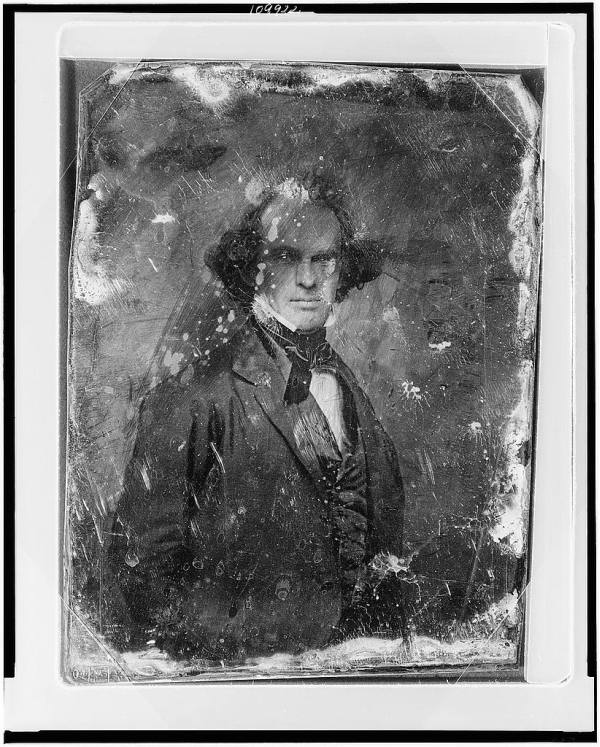 Nathaniel Hawthorne Half Length Daguerreotype