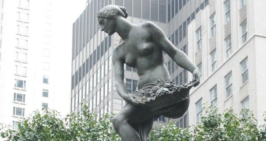 Plaza Hotel Audrey Munson Supermodel Sculpture