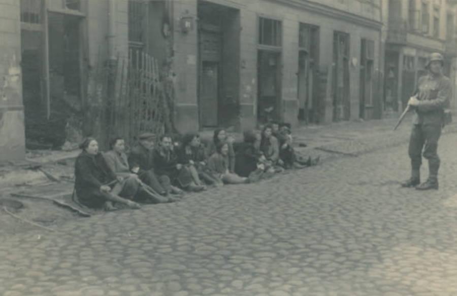 Sitting In Street