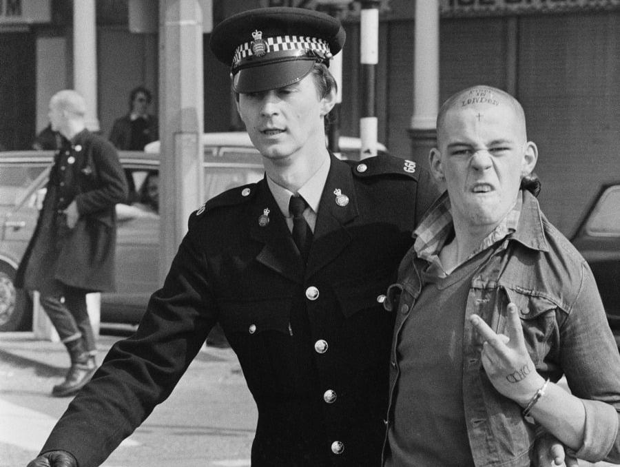 Skinhead Cop Arrest