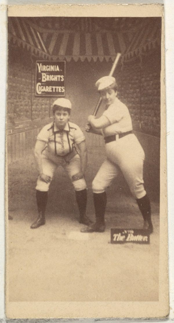 Girl Baseball Players Cigarette Pack Cards Of The 1880s