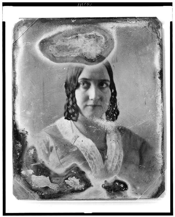 Unidentifed Halo Woman Portrait