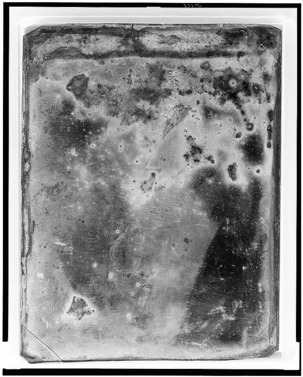 Unidentified Man Daguerreotype Abstract
