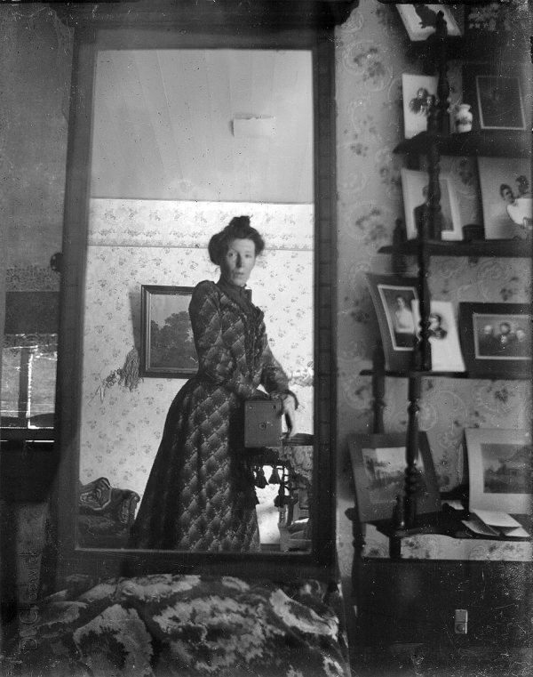 Unidentified Woman Taking Her Own Photograph