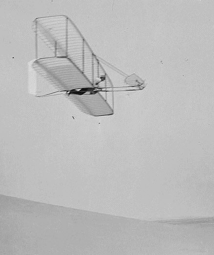 Wright Glider Flying