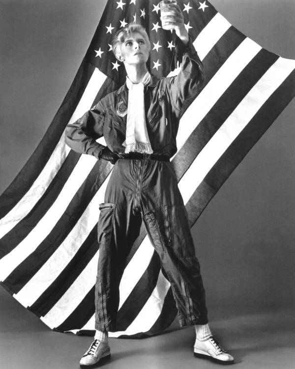 American Flag Bowie Standing