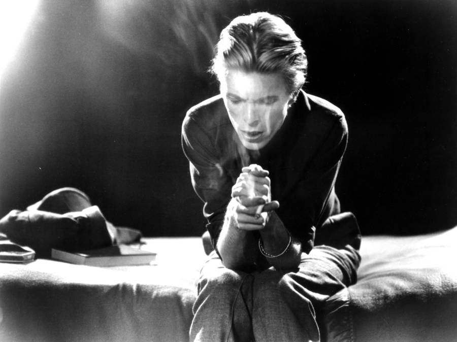 Bowie Smoking Seated