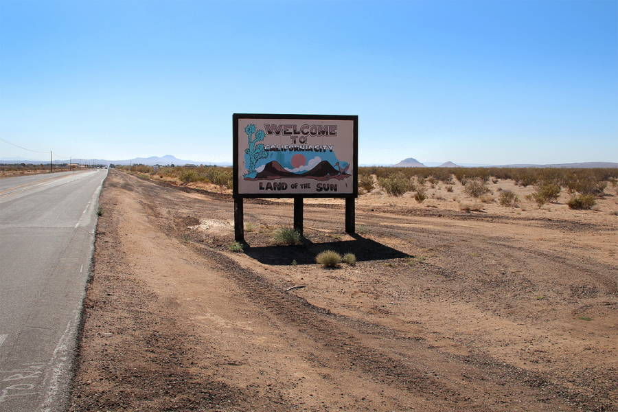 California City Welcome Sign