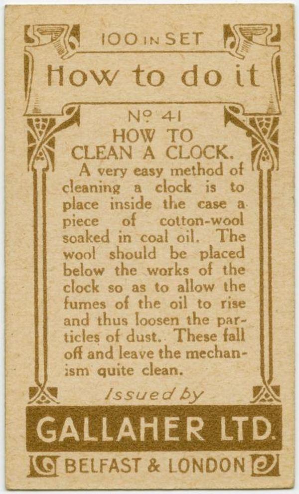 Clean A Clock Back