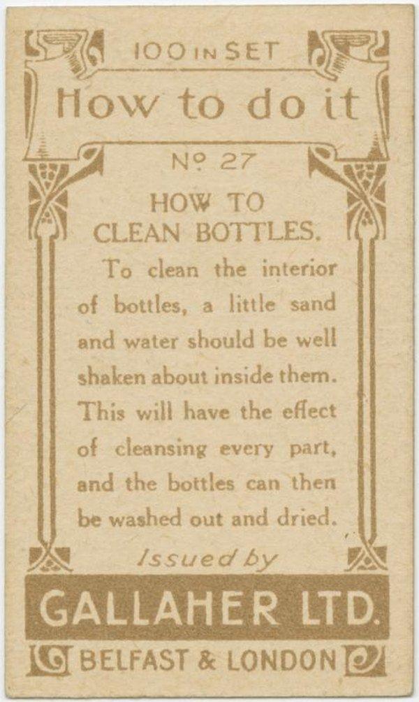 Clean Bottles Back