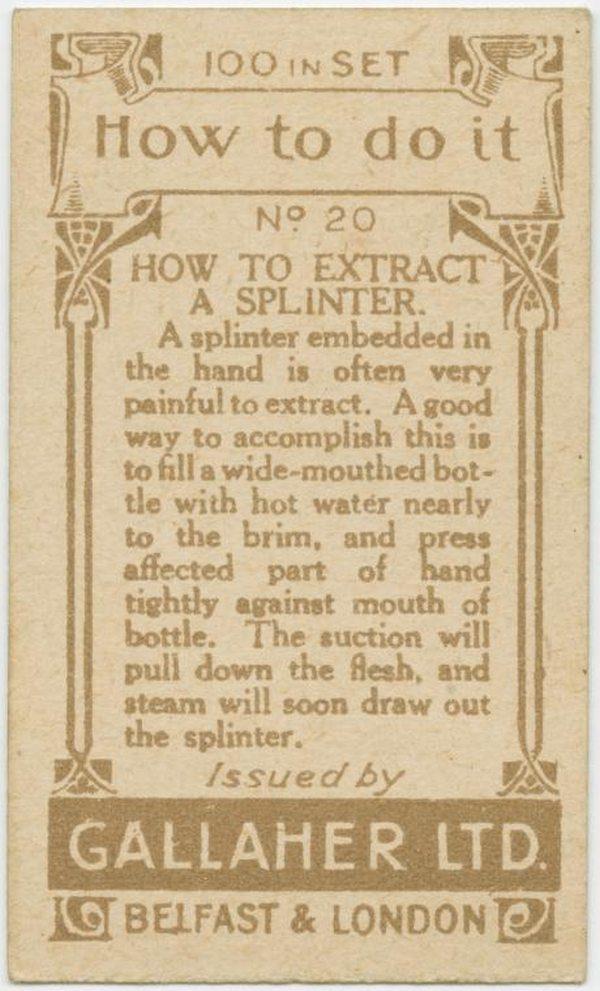 Extract A Splinter Back