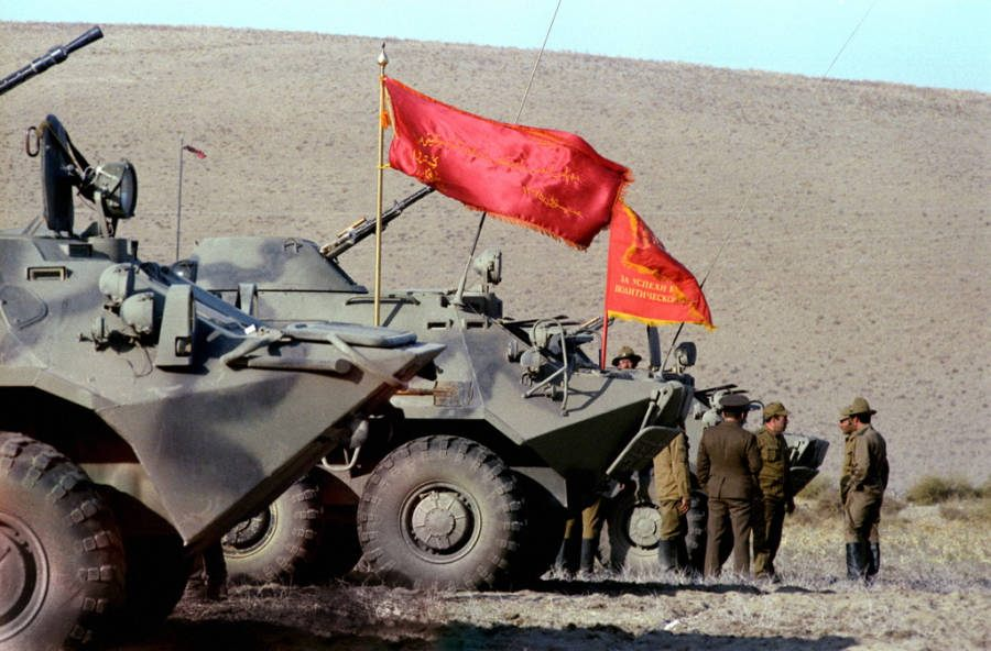 Flags Soviet Afghan War