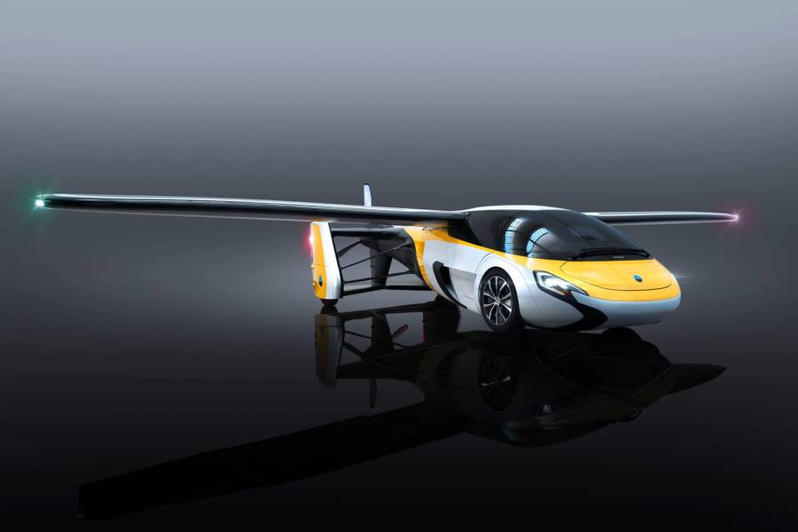 Flying Car Yellow