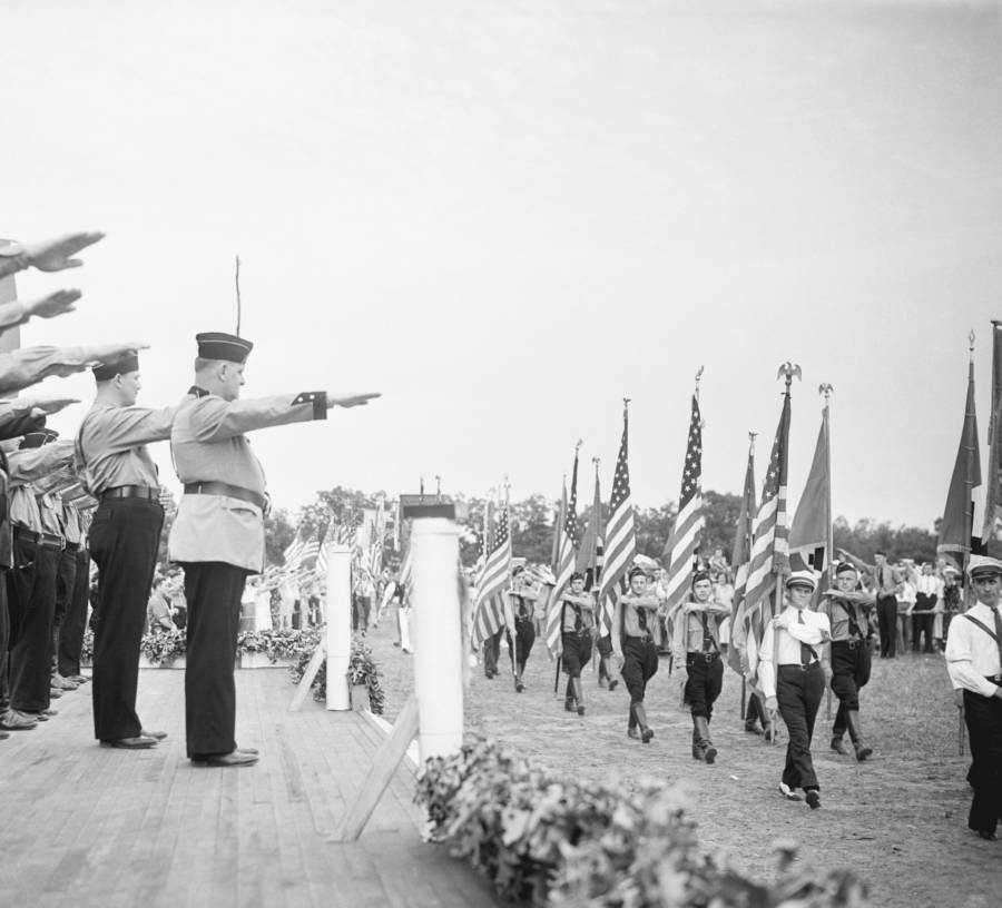 Fritz Kuhn Salute Flags