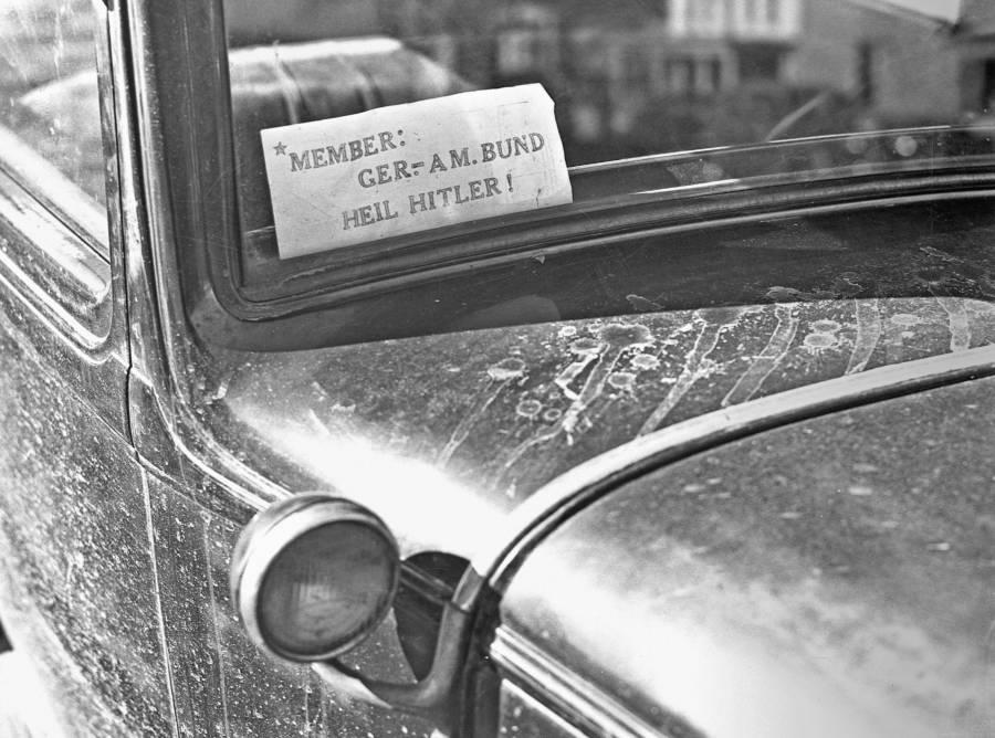 Hitler Sign On Car