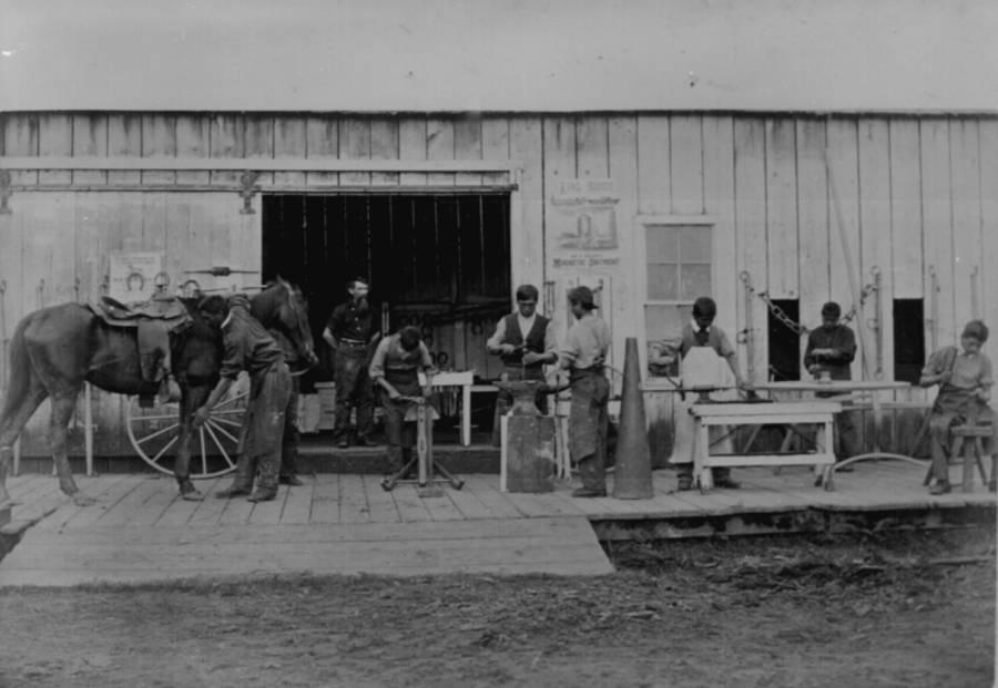 Indian Training School Blacksmiths