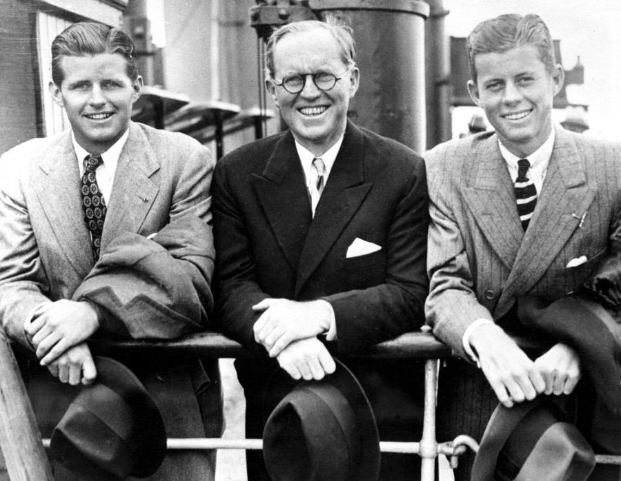 Kennedy Brothers With Father