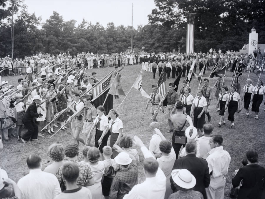 Kids Carrying Flags